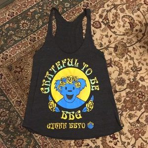 Grateful Dead inspired rock tee halter Jewish club
